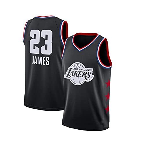 GFQTTY Camiseta De Baloncesto para Hombre, Camisetas Sin Mangas Transpirables Sueltas Bordadas #23 De Los NBA Lakers, Camiseta De Fanático All-Star para Hombres Y Mujeres