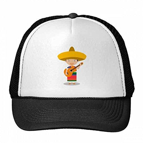 DIYthinker Nylon Gorra de béisbol Sombrero de la Historieta de la Guitarra México Gorros Gorro Fresca niños del Casquillo del Sombrero Ajustable Regalo para Adultos