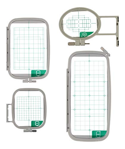 Ultima 4 Piece Embroidery Hoop Set for Brother, Innovis & Baby Lock Embroidery Sewing Machines