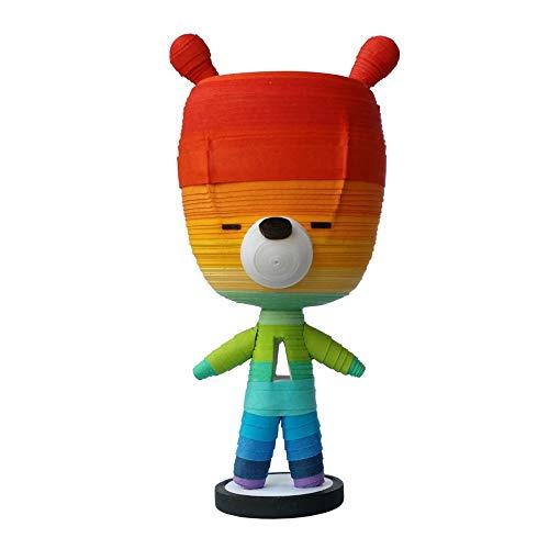 "Teddy bear collector: Initial ""A"" chibi bear ornament, rainbow alphabet bear. An original figure by S'VELTE."