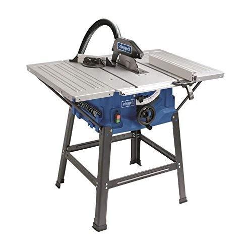 Scheppach Tischkreissäge HS100S (2000W, Sägeblatt Ø250mm, Schnitthöhe 85mm, Tischgröße mit Verbreiterung 642 x 940 mm, Tischhöhe 830mm)