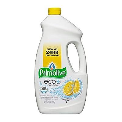 PALMOLIVE eco+ Lemon Splash Automatic Dishwashing Gel, Dish Soap, 75 Fluid Ounce Bottle (Case of 6) (Model Number: 42706CT)