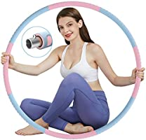 TvvaaFog Fitness Hula Hoop Reifen Erwachsene, Stabiler Edelstahlkern mit Premium Schaumstoff, Komfortabler und Längeres...