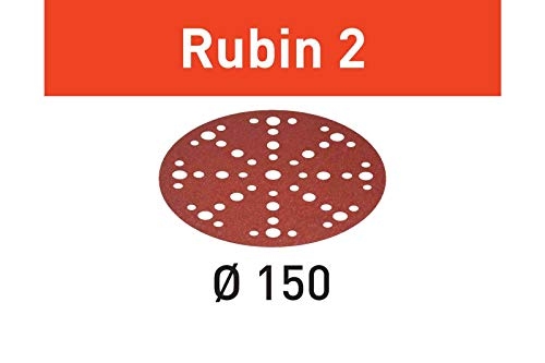 FESTOOL 575188 Multi-Jetstream Schleifscheiben Rubin2, Durchmesser 150 mm, Korn 80 mm, 50 Stück