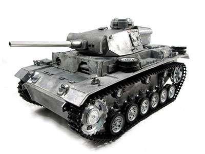 Amewi Panzer II Panzermodell mit Fernsteuerung, Vollmetall, 2,4GHz, RTR + Airsoft, Sound-Effekte