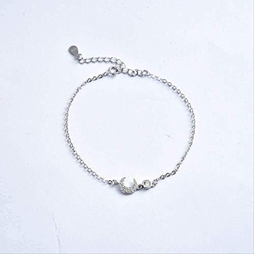 ZHIFUBA Co.,Ltd Collar Collar Moda Personalidad Creativa Pulsera Mujer S Moda Diamante con Incrustaciones en Forma de Luna Pulsera Temperamento Joyería Pulsera Collar