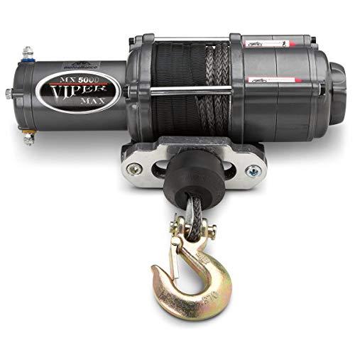 MotoAlliance VIPER Max ATV/UTV Winch 5000lb with 40 feet BLACK Synthetic Rope