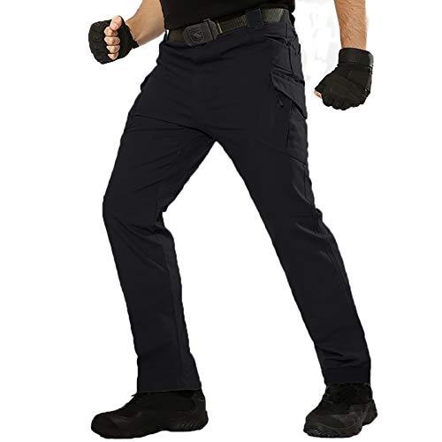 TACT BESUHerren Cargohose Outdoor Militär Tactical Hose Männer Stretch Arbeitshose mit Multi Taschen Schwarz 38