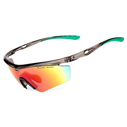 Meetlocks polarisierte Radbrille, TR-Rahmen HD Lens UV-Schutz Sportbrille, geeignet für Outdoor Sports