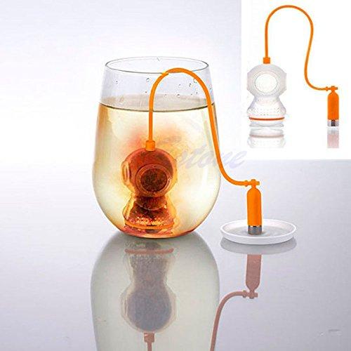 Orange Infuser Loose Herbal Tea Leaf Infuser Food-safe Silicone Rubber Stainer