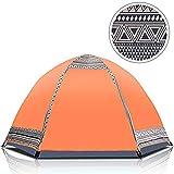WYYHAA Automatisches Aufstell-Campingzelt, 3-4 Personen Wasserdichtes, Leichtes Kuppelzelt Hydraulisches Sofortaufstell-Zelt Leichtes Aufstell-Kuppelzelt Sechsseitige Belüftung,A
