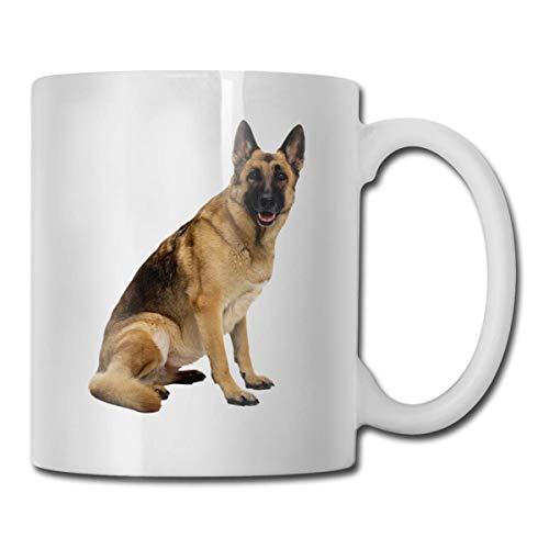 Lustige Kaffeetasse Deutscher Schäferhund Kaffee Teetasse Einzigartiges Festival Geburtstagsgeschenk für Männer Frauen