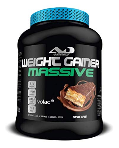 Protéine masse musculaire - Multivitamines muscluation - Prise de poids - Whey Protéine - Weight Gainer Massive - 2,5 Kilos - Gout Snikers ADDICT SPORT NUTRITION AD