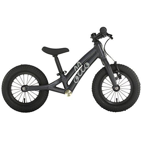 OLLO Bikes® - Laufrad 12 Zoll für Jungen und Mädchen von 2 – 4 Jahren - nur 4,5 kg - Engineered in Germany: Top-Qualität, Alu-Rahmen, hochwertige Alu-Komponenten (Schwarz)