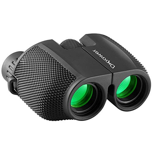DFlamepower 10x25 Compact High Powered Folding Binoculars Waterproof...
