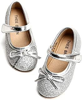 THEE BRON Girl's Toddler/Little Kid Ballet Mary Jane Flat...
