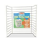 Melissa & Doug Multi-Fit Metal Wire Puzzle Rack 12 inches wide and 0.75 inches deep