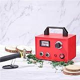 HUKOER Macchina per pirografia 60W, set di strumenti per la combustione del legno multifunzione, penna a doppia pirografia professionale Kit di attrezzi per la lavorazione del legno