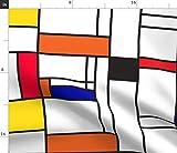 Mondrian, Geometrisch, Primär, Rechtecke, Grafisch Stoffe