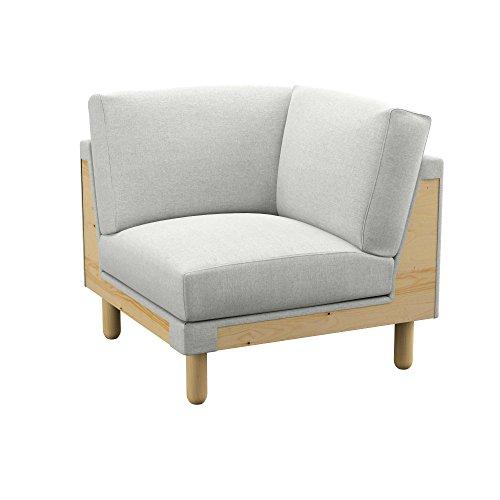 Soferia - IKEA NORSBORG Funda para módulo de Esquina, Classic Creme