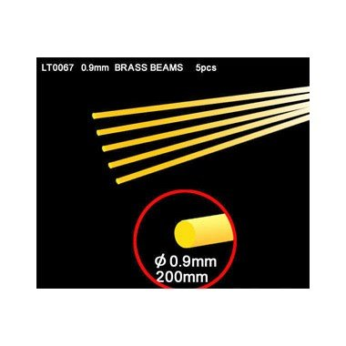 Lion Roar-GreatwallHobby Brass Travi 0,9 millimètres Round (200 mm, 5 pièces/lot)