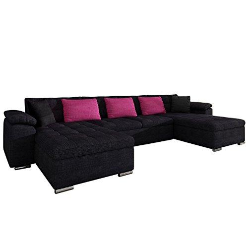 Mirjan24 Ecksofa Wicenza! Design Big Sofa Eckcouch Couch! mit Schlaffunktion Bettfunktion! Wohnlandschaft! U-Form, Große Farbauswahl (Cairo 38 + Cairo 28)