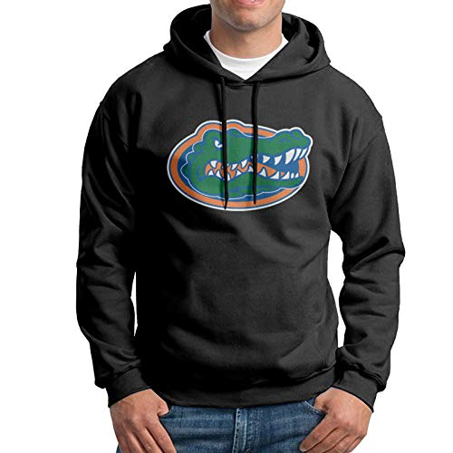 Florida Gator Gators Fishing Mens Basketball Breathable and Soft Hoodie Front Print Jerseys Black