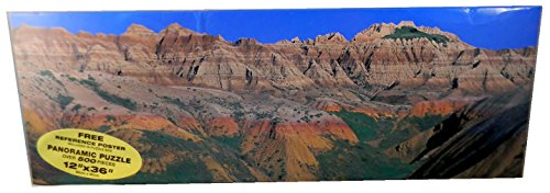 Dakota Badlands; 500 Piece 12' x 36' Panoramic Puzzle by Chad Coppess