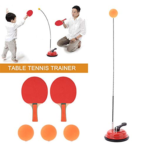 Lowest Prices! Table Tennis Trainer Ping Pong Paddle Set Rackets, Balls, Complete Table Tennis Set w...