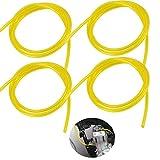 dancepandas Kraftstoffschlauch 4PCS 3x6mm, 3x5mm, 2,5 x 5mm, 2 x 3,5mm Benzinschlauch PVC Dieselschlauch für Roller Motorrad Gartenmäher Kettensäge Hochfester Flexibler Kraftstoffschlauch (Gelb)