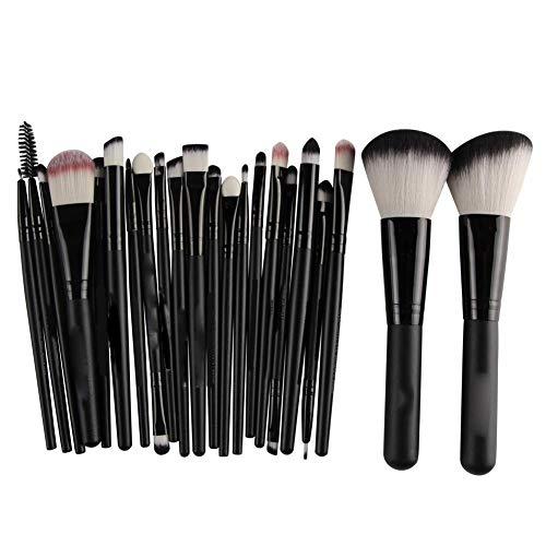 awhao Maquillage Pinceau Set 22pcs Pinceaux Cosmétiques Premium pour Fond de Teint Blush Concealer Ombre À Paupières Fibres Synthétiques Fibres Synthétiques