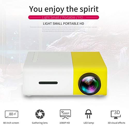 Joojun YG300 Mini Proyector Bajo Techo/en Exteriores Cine De Cine En Casa 1080P HD LED Proyector Portátil En Miniatura Soporte Laptop PC Smartphone Entrada HDMI Proyector Multimedia De Bolsillo