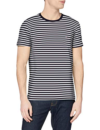 Tommy Hilfiger Herren Stretch Slim Fit Tee Sporthemd, Desert Sky/White, L