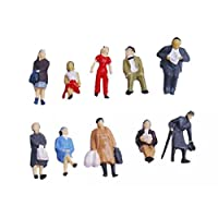 ノーブランド品 1/87 約48体 人形 塗装人 フィギュア 模型用 建築模型  20mm 装飾