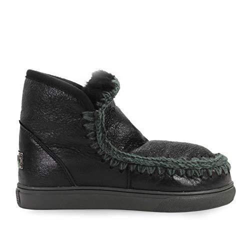 Zapatos de Mujer Zapatilla Mini Eskimo Negro Mou Otoño Invierno 2019