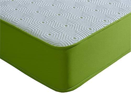 Sprung Double Memory Foam Mattress. Lime Seville Vapour Pod 9' Deep Comfort (4ft6 Double Memory Foam Mattress)