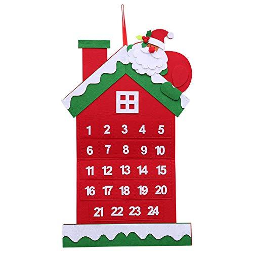NAttnJf Calendario de Adviento de Navidad de Papá Noel Que cuelga la decoración de la Ventana de la casa del árbol de Navidad Casa#