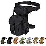 Injoy Multi-Purpose Tactical Drop Leg Bag Tool Fanny Thigh Waist Pack Leg Rig Military Motorcycle Camera Versipack Utility Pouch, Black