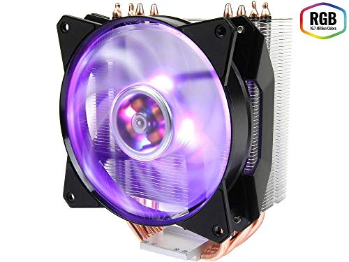 Cooler Master MasterAir MA410P RGB CPU-koeler '4 Heatpipes, 1 x MasterFan AB 120 RGB ventilator, RGB LED' MAP-T4PN-220PC-R1