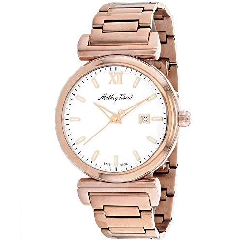 Mathey Tissot Men 's H410PI Quartz Rose Gold Watch