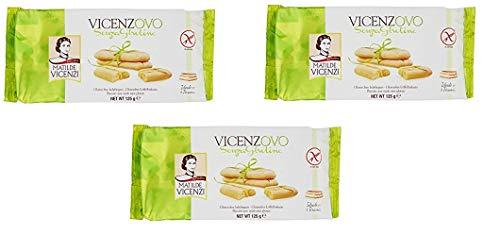 3 galletas Matilde Vicenzi Vicenzovo Senza Glutina 125 g para Tiramisú