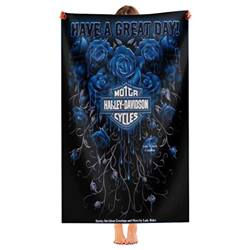 Cute Pillow Juego de toallas de baño de Harley Davidson gruesas, supersuaves y absorbentes, 100%...