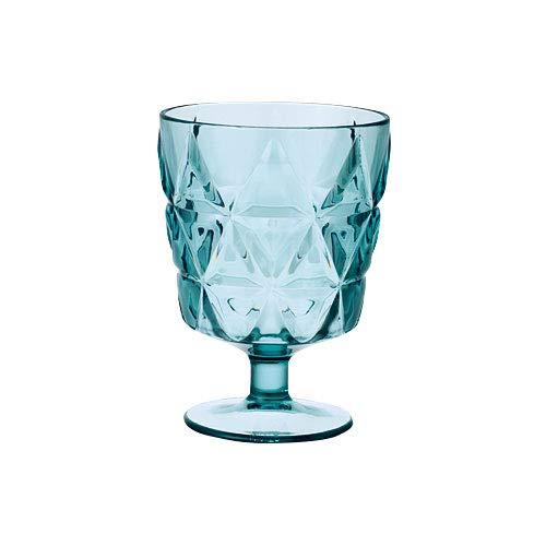ぼん家具 ワイングラス コップ グラス カップ 食器 お酒 樹脂 270ml ブルーグリーン