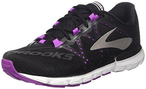 brooks Neuro 2, Zapatos para Correr para Mujer, Multicolor (Black/purplecactusflower/White), 36.5 EU