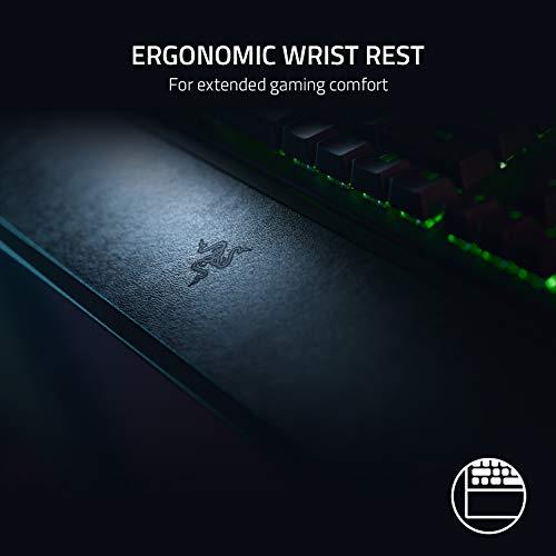 Razer BlackWidow V3 (Green Switch) - Gaming Tastatur mit mechanischen Schaltern (Taktil & klickend, ABS-Tastenkappen, Medientasten, RGB Chroma Beleuchtung) QWERTZ | DE-Layout, Schwarz