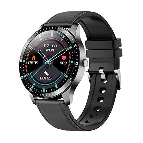 YDZ Monitor De Sueño con Ritmo Cardíaco S80 IP68 Hombres Inteligentes Impermeables Hombres Fitness Fitness Ejercicio 2021 Smartwatch para iOS Android,B
