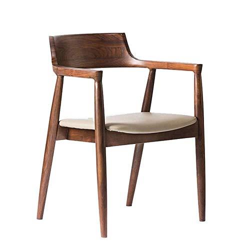 SPRINGHUA Sillas de comedor de madera pesada, sillón curvado, se puede utilizar como una silla de oficina en el hogar para el salón de restaurantes (color, tamaño: tamaño libre)