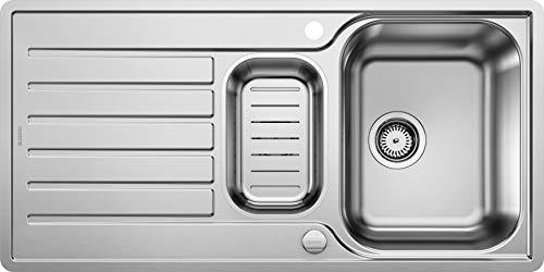 BLANCO LANTOS 6 S-IF – Küchenspüle für 60 cm breite Unterschränke – Mit IF-Flachrand und Ablauffernbedienung – Edelstahl-Bürstfinish – 519720