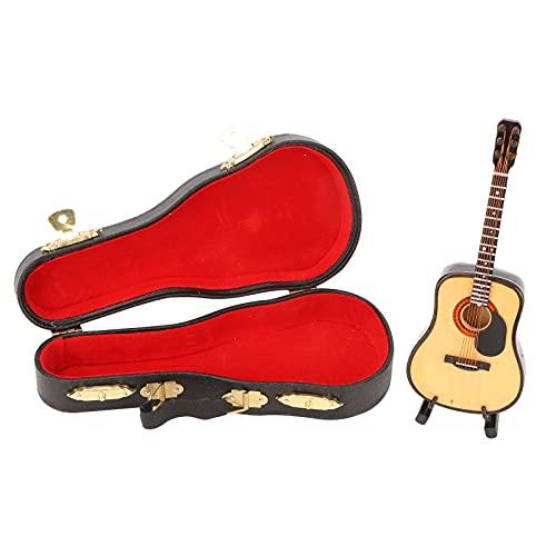 Modelo de Guitarra en Miniatura - Modelo de Guitarra en Miniatura de Madera Mini réplica de Guitarra Modelo de Instrumento Musical Decoración