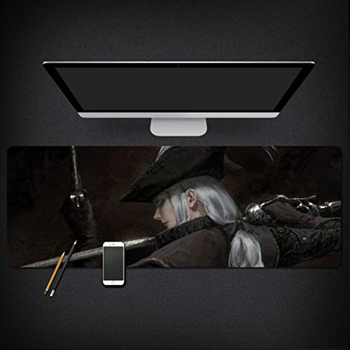 Professionele Anime Roman Princess Extended Gaming Mouse Pad, Toetsenbord Pad Leuke Office Bureau Pad Tafelhoes, Waterdichte Game Mousepad voor Computers Desktops, PC, Laptop 40x90x0.3cm(16x35x0.11inch) B